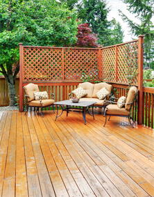 Deck With Nice Patio Furniture.